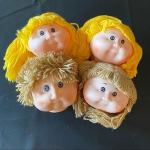 4 Vintage Cabbage Patch Doll Style Doll Heads